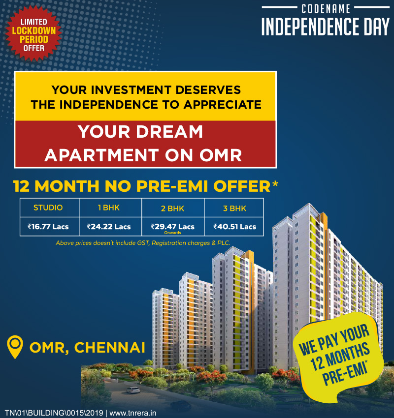 Flats in OMR CodeName Independence Day